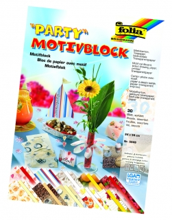 Blok s Party motivem 24x34 cm 30 listů mix